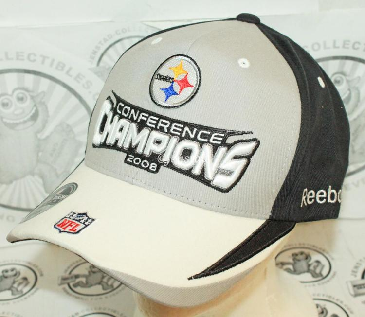 d6e51b3af PITTSBURGH STEELERS REEBOK NFL XLIII AFC CONFERENCE CHAMPIONSHIP CAP HAT  2008 ONE SIZE