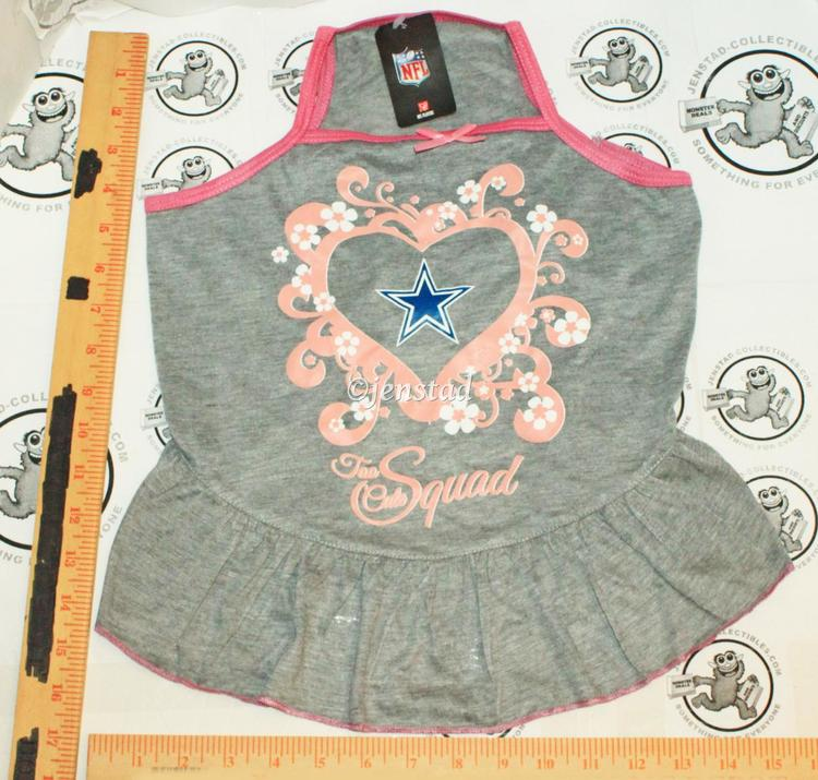 771fbb7029d DALLAS COWBOYS NFL DOG L - PET SQUAD JERSEY TEE HEART PINK GRAY DRESS LARGE  2015. Related Items