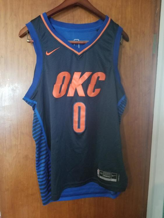 new style 375df 9aceb New Nike OKC Thunder Russell Westbrook Statement edition jersey