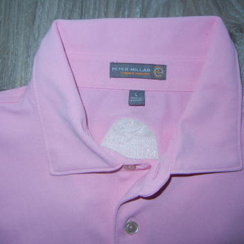 0fb6c62189c Peter Millar Summer Comfort Mens Golf Polo Sz Large Pink