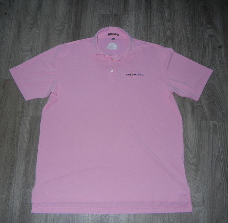 bd60eeecba7 Peter Millar Summer Comfort Mens Polo Sz Large Pink