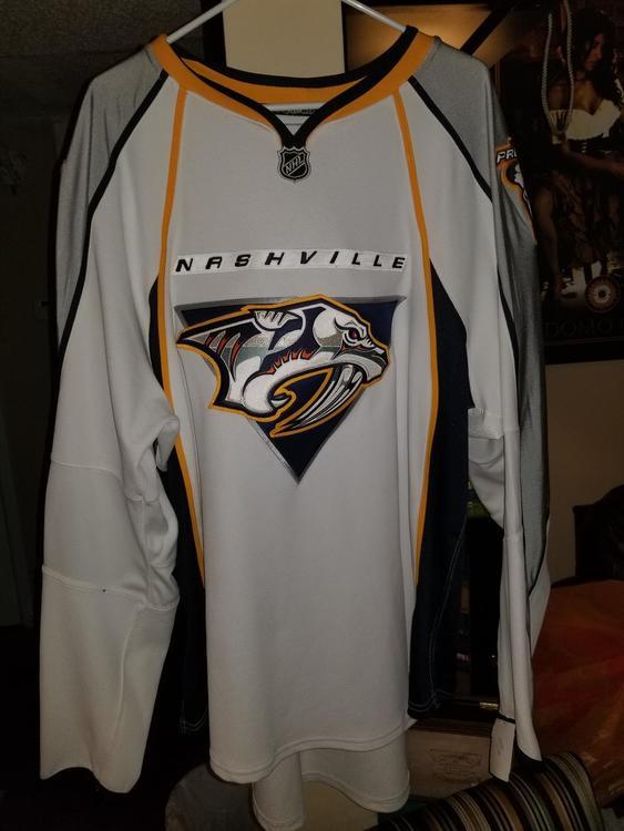 ... italy new nashville predators authentic pro stock reebok edge 1.0 blank  hockey jersey sold ec2d4 5868b 391c32d18