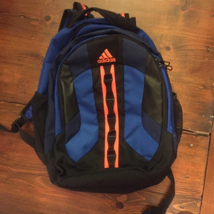 Great Condition Adidas Load Spring Orange And Blue Backpack  702bacc576721