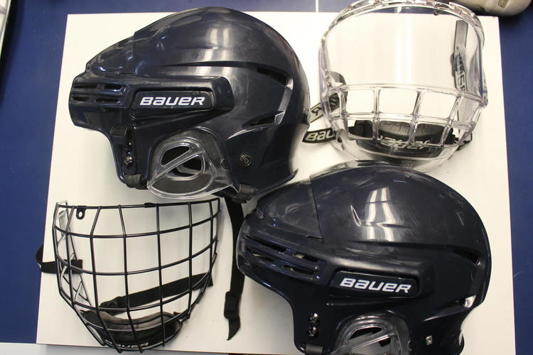 73f0f82a6be BUNDLE Bauer Helmets and cages bubble shields