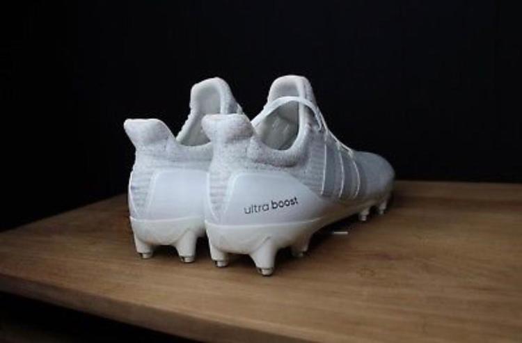 151f4e490 Rare Adidas Ultraboost Triple White Cleats Size 11.5