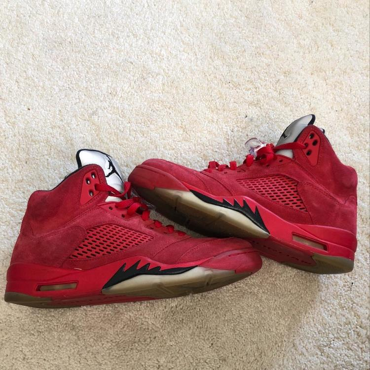 df9cdb79cb4f Air Jordan 5 Retro BG  Red Suede  - Used But In Good Condition ...