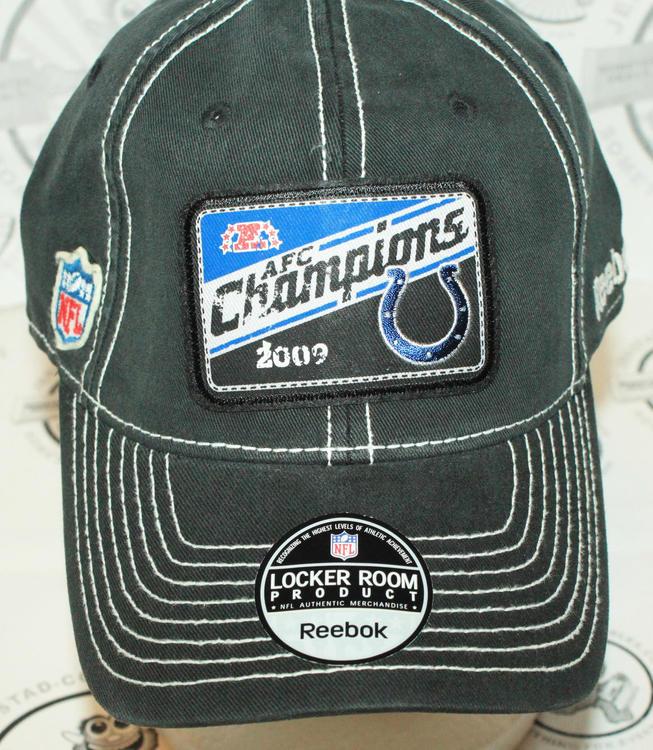 2cbb341d57e INDIANAPOLIS COLTS NFL AFC CHAMPIONS REEBOK LOCKER ROOM HAT CAP 2009 ...