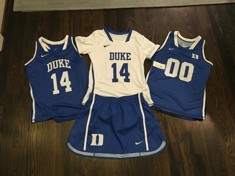95de4f2886c48 New Nike Womens Duke Blue Devils Lacrosse LOT (3 jerseys) (1 kilt )
