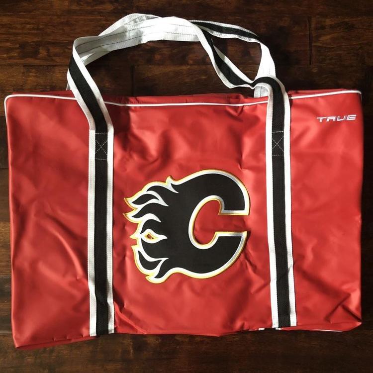 new product d5a1e 53c82 New! Custom True Pro Player Bag Calgary Flames
