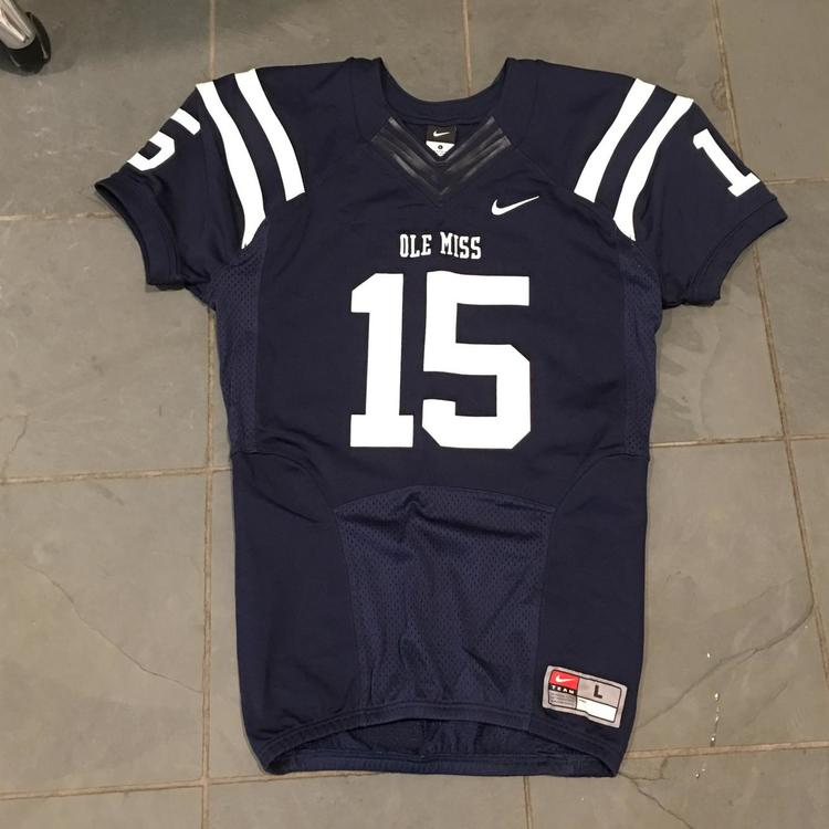 brand new e6868 2de3a RARE Nike OLE MISS REBELS #15 Football Game Jersey SEWN LARGE