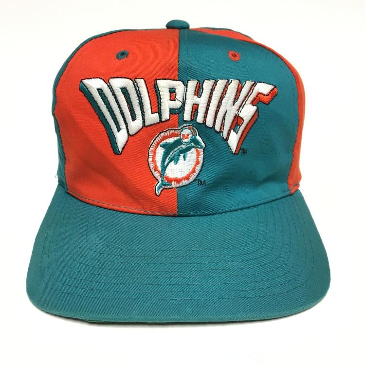 5a8c05e59fb72 Vintage Miami Dolphins Pinwheel Snapback Hat. Related Items