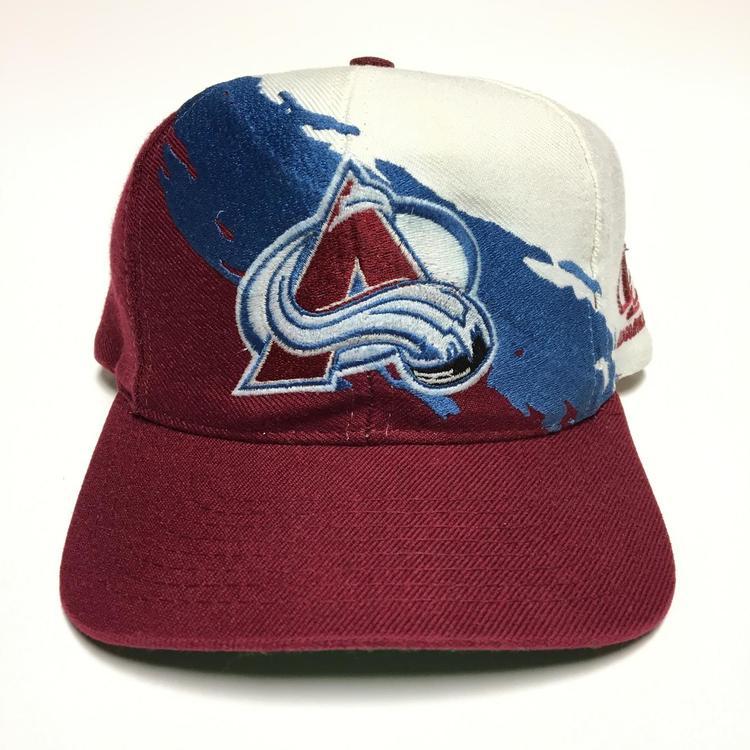 brand new b4d63 751f4 ... where to buy vintage colorado avalanche logo athletic splash snapback  hat sold 91fc2 5ddc3