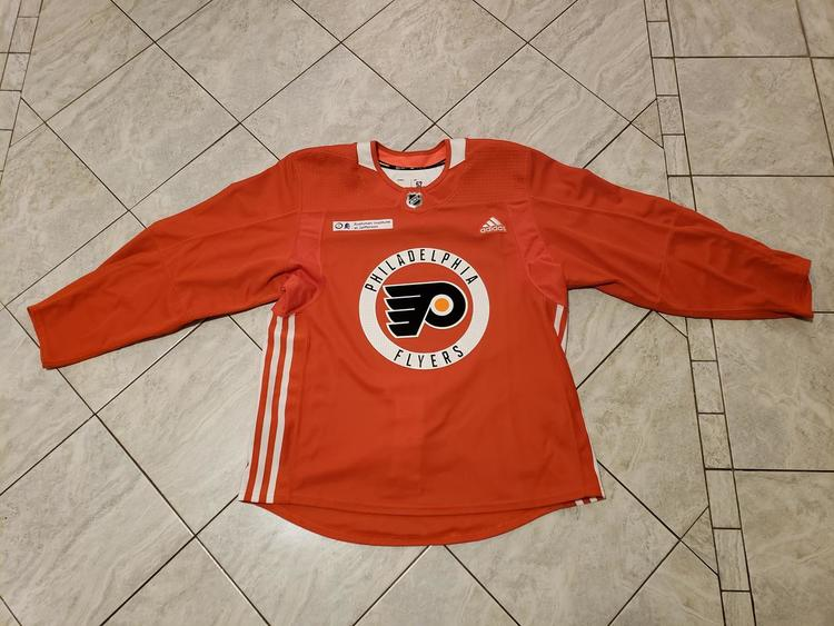 new product f665b 68fb5 New Adidas Philadelphia Flyers practice jersey, 52, not retail authentic