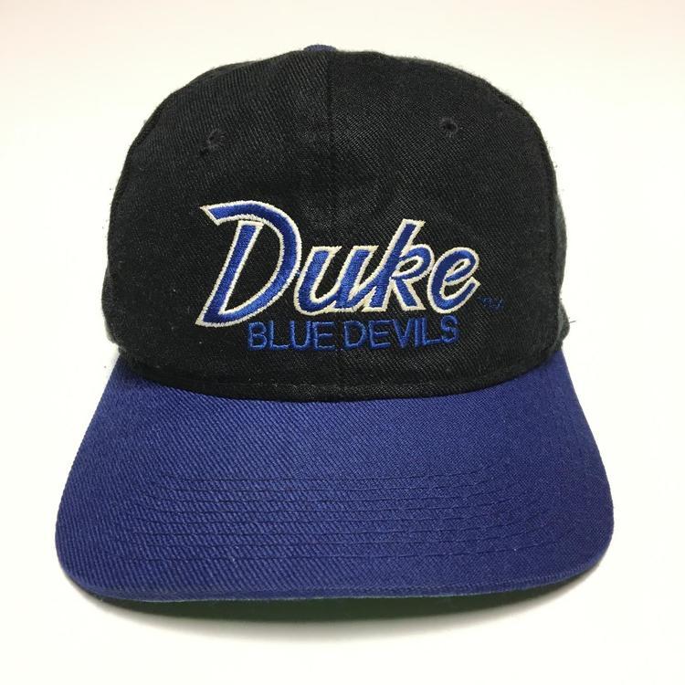 Vintage Duke Blue Devils Sports Specialties Script Snapback Hat ... 421d07ec17e5