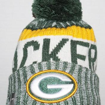 New Era Green Bay Packers Cap Nfl Pom Knit Winter Beanie 2017
