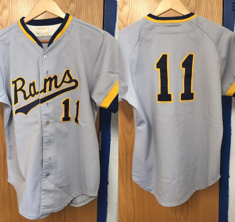 33e3d980 University of Rhode Island Gray/Yellow Rams Game Jersey