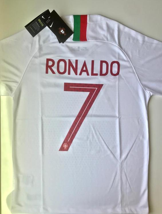 new arrival 548c9 1757b NEW PORTUGAL RONALDO AWAY NIKE PLAYER SOCCER JERSEY SIZES AVAILABLE (S, M,  L, X-L)