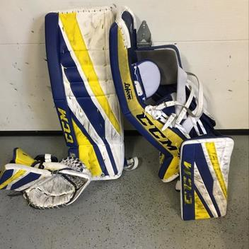 CCM EFlex 3 Custom Intermediate Leg Pads Size 32+1 | SOLD | Hockey