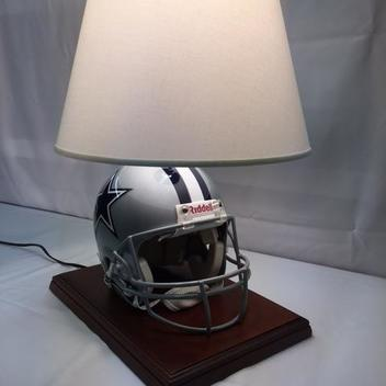 Flat Dallas Cowboys Full Size Authentic On Field Riddell Vsr4 Helmet Lamp