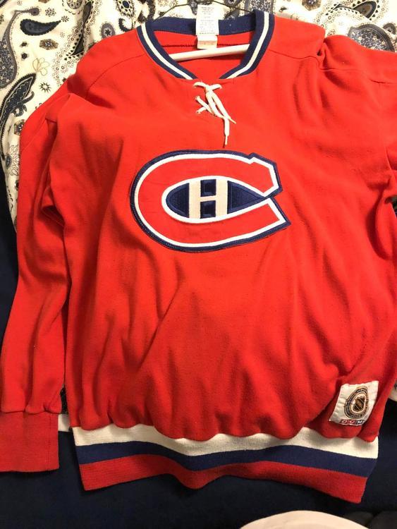 sports shoes 7e040 4822c Vintage Montreal Canadiens CCM Sweater Size L