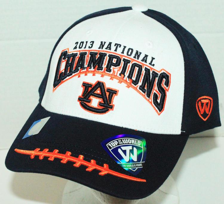 quality design 6065b 3df84 ... good auburn university ncaa football sec champions top of the world cap  hat 2013 one size ...