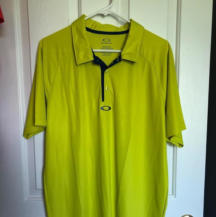fa6d615a Men's Shirt Large Oakley Neon Yellow | SOLD | Golf Apparel ...