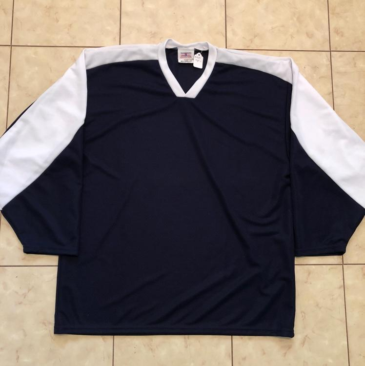 Navy Blue And White Practice Jersey  1e1925bb209