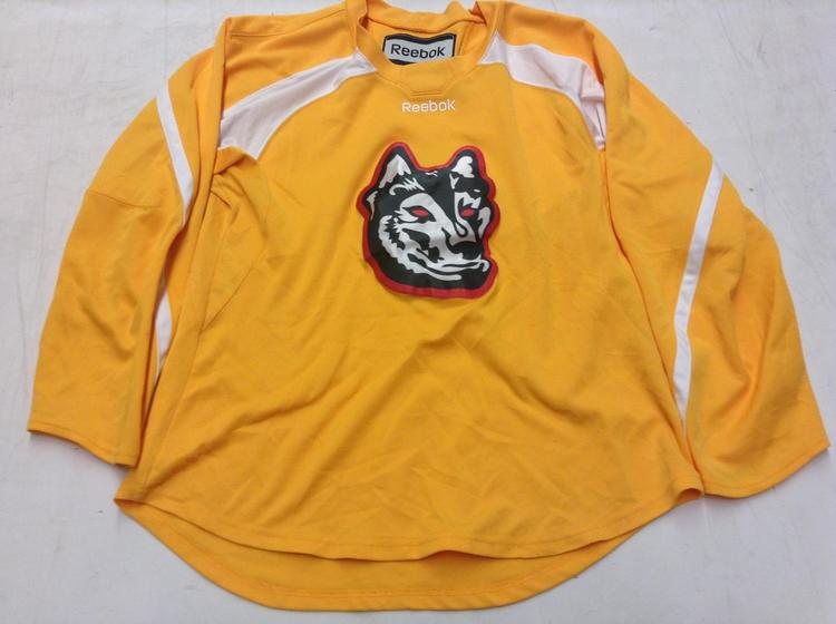 916e897d1 Reebok NE HUSKIES 20P00 Edge Practice Jersey YELLOW Various sizes | Hockey  Apparel, Jerseys & Socks | SidelineSwap
