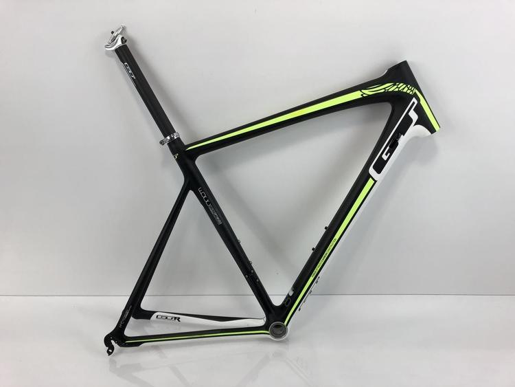 GT GTR Team Pro Carbon Road Frame Matte Carbon/Fluoro Green/White XL ...