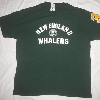 9bfa48110 WHL NEW ENGLAND WHALERS T SHIRT XL GREEN TAC TWILL NUMBER - SOLD