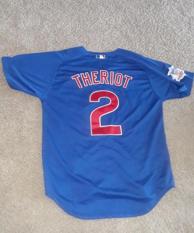 the best attitude 6a634 c16b7 Chicago Cubs Away Jersey Ryan Theriot #2