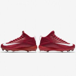 c0b25215740 Nike Force Zoom Trout 3 Metal Baseball Cleat 856503 667 Red White Mid.  Related Items