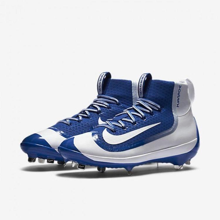22559699fd14a Nike Air Huarache 2KFilth Elite Mid Royal Blue White 749359 411 Metal  Baseball. Related Items