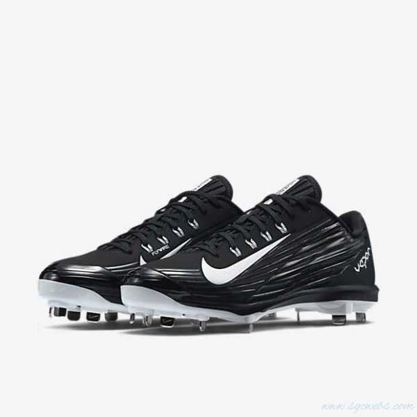online store ebd29 27d7a Nike Lunar Vapor Pro Low sz 10 Metal Baseball Cleats 683895 010 Black White