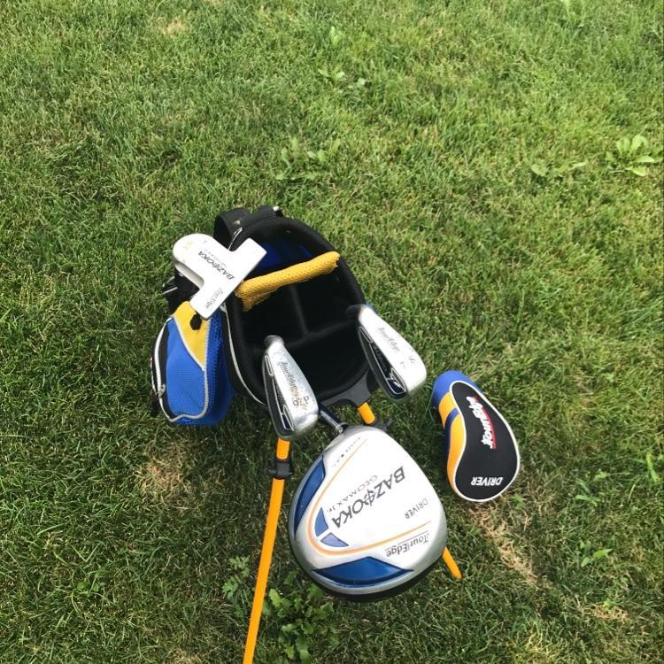 Tour Edge Bazooka Geomax Jr Left Handed Boys Set Good Condition Golf Clubs