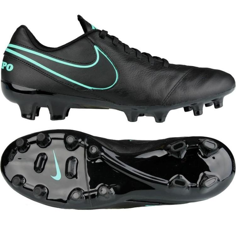 c920cf57d Nike Tiempo Genio II Leather FG sz 8 Black Turqouise 819213 004 Soccer  Cleats