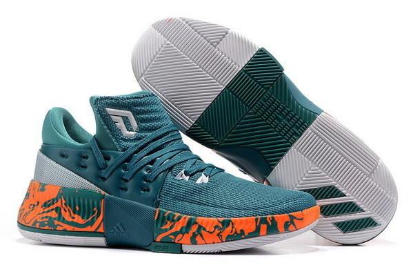 best sneakers 686af ed7ee Adidas D Lillard 3 sz 16 Miami Hurricanes PE BY3394 Canes Green Orange Dame
