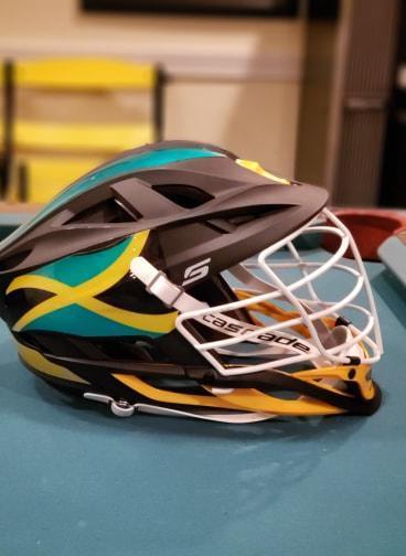 Cascade Jamaican National Team Helmet   SOLD   Lacrosse