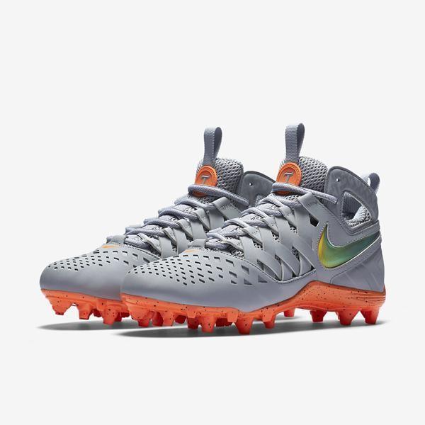 82a2d635bb9 Nike Huarache V 5 Elite LE sz 13 Thompson Lacrosse 857036 080 Orange Grey  Chrome