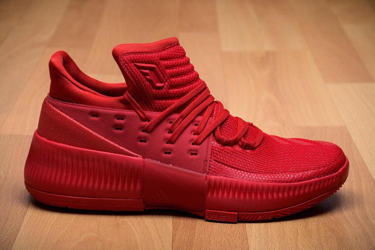 Adidas Dame 3 Roots Sz 14 Bb8337 Red Damian Lillard Portlant Trailblazers Boost Basketball Shoes