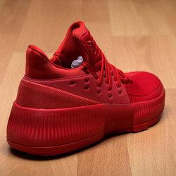 sale retailer f2665 46e39 adidas Dame 3 Roots sz 14 BB8337 Red Damian Lillard Portlant Trailblazers  Boost