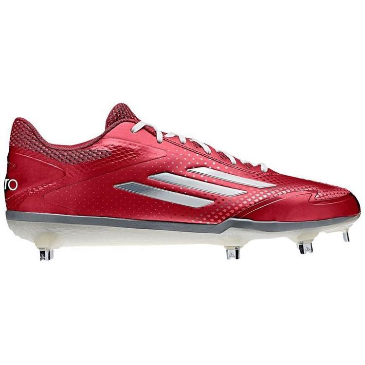 2ba7ff40a Adidas adiZero Afterburner 2.0 sz 11.5 S84700 Red White Metal Baseball  Cleat SPRINTFRAME. Related Items