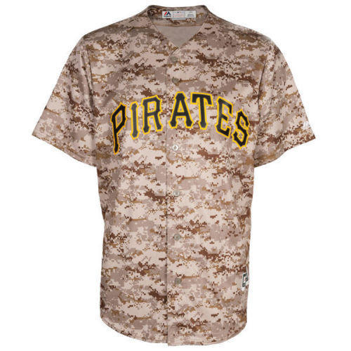 new products fee52 cde63 Majestic Cool Base Official MLB Pittsburgh Pirates Digi Camo Jersey sz L  LARGE