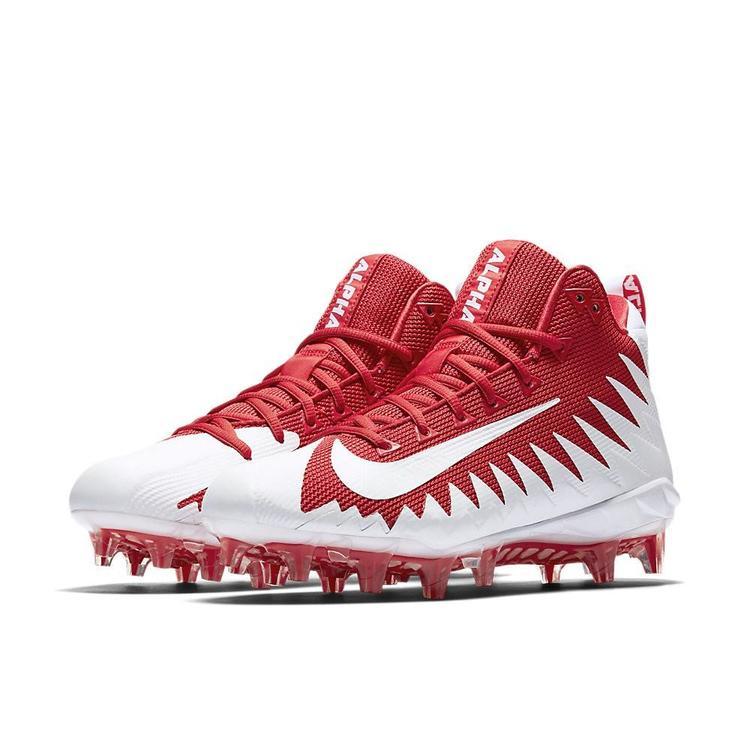 98ee5de39 Nike Alpha Menace Pro Mid sz 12 Red White 871451 611 Elite Vapor Untouchable