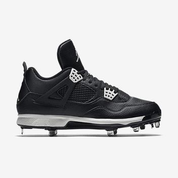 a9554045cfd40c Nike Air Jordan IV 4 Retro sz 14 Oreo Metal Baseball Cleat Black 807710 010