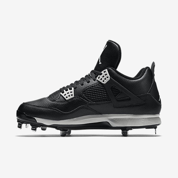 70c462fa4781d Nike Air Jordan IV 4 Retro sz 14 Oreo Metal Cleat Black 807710 010 ...