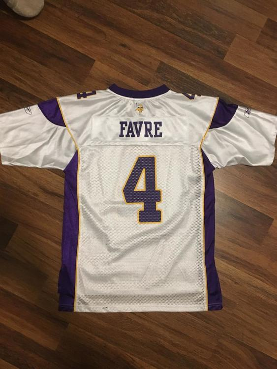 factory authentic aacd7 32f62 Brett Favre Vikings Jersey Youth Large
