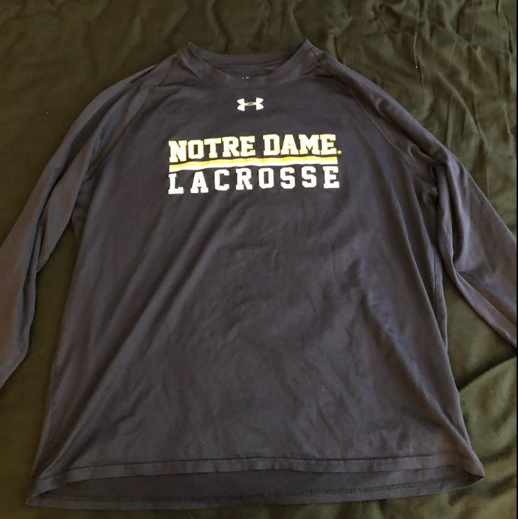 Under Armour Notre Dame Team Issued Long Sleeve Shooter Sold