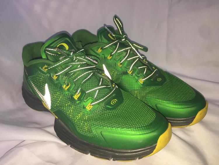 brand new bb655 1854f Nike Oregon Ducks Lunar TR1 Apple Green Sz. 9.5   Footwear Turfs, Indoor,  Sneakers   Training   SidelineSwap