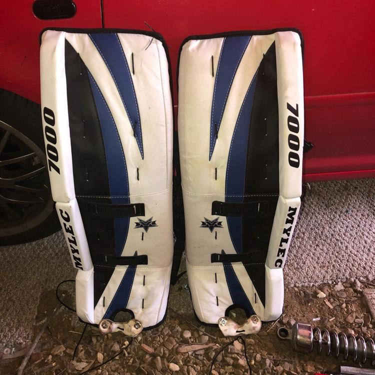 30 1 Mylec Street Roller Ball Leg Pads Any Reasonable Offer Accepted